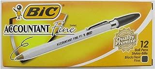 Bic Accountant Fine Point Pen , Dozen, BICAF11BK