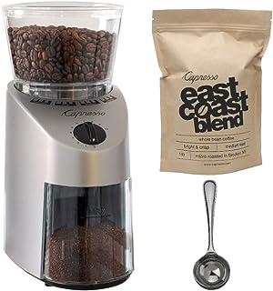 Capresso 560.04 Infinity Conical Burr Grinder w/Capresso Grand Aroma Whole Bean Coffee (8.8oz) + Hic Coffee Measure by Cap...