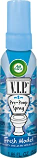 Air Wick V.I.P. Pre-Poop Toilet Spray, Up to 100 uses, Contains Essential Oils, Fresh Model Scent, Travel size, 1.85 Fl Oz