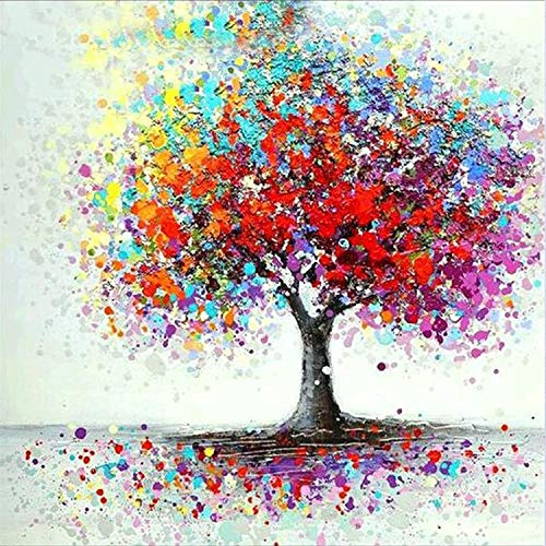 5d Diamond Painting Kits for Adults,Love Tree Life DIY Round Full Drill Art Diamond Painting Kit for Beginners,12x12 inch Arts Craft Canvas for Home Wall Decor Gift