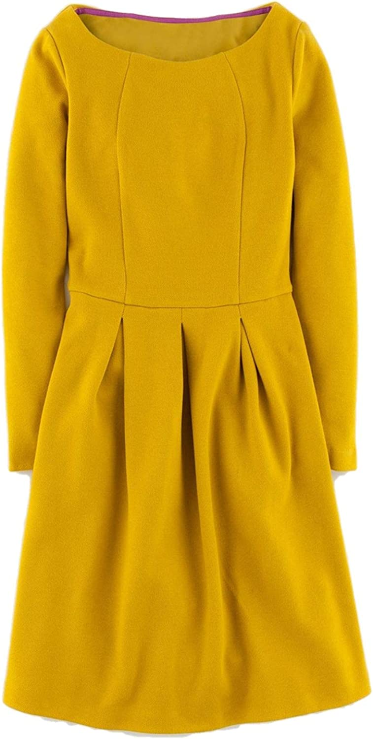 BODEN Lindsey Ponte Dress in Citron Size US 2 P