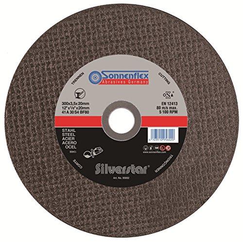 Sonnenflex Silverstar, Disco da taglio per acciaio 300-355 mm, 80 m/s, 300 x 3,5 x 20 mm, A 30 S 4 BF
