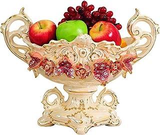 Plateau de fruits, plaque européenne de fruits en céramique Accueil Salon Café Décoration de table Pot de fruits Accueil D...