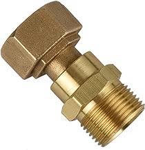DUSICHIN DUS2222 Gun-Hose Swivel Joint, Kink Free Hose Fitting, Anti-Twist Hose Brass Fitting for Pressure Power Washer Hoses