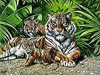 野生動物ジグソーパズルパズル大人とキッド、タイガー家族のための500/1000/1500の小品 - 大パズルゲーム興味深いおもちゃ - フィニッシュベストホームデコレーション (Size : 1500 pcs)