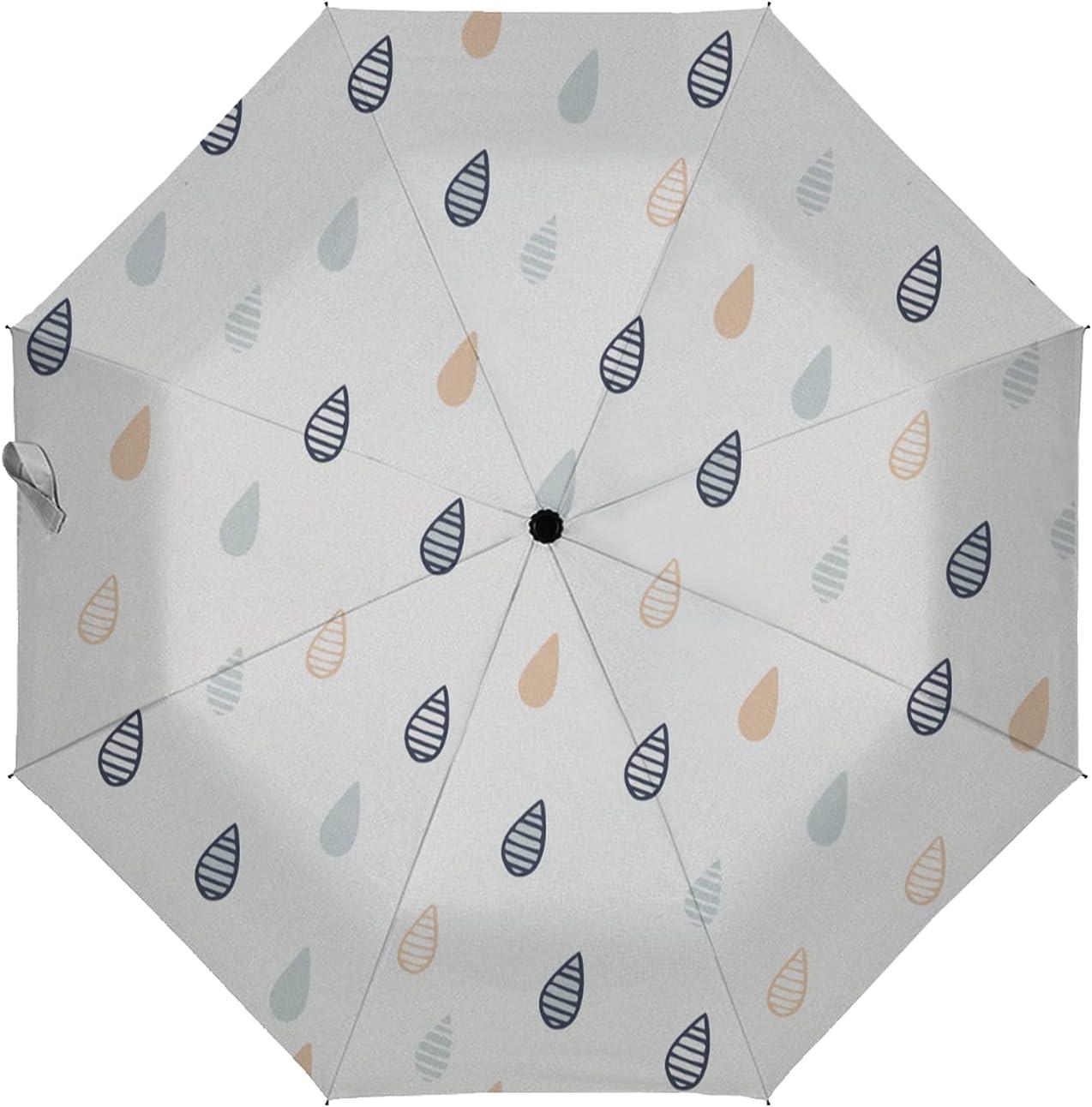 LoveKunYu Auto Quality inspection Open Close Umbrella Regular discount Cute Cartoo Hipster Raindrops