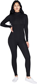 Women's Cotton Spandex Long Sleeve Turtleneck Catsuit