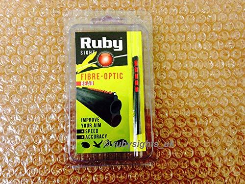 RUBY FIBRE OPTIC SHOTGUN SIGHT RED BEAD 71MM HUNTING SPORTING