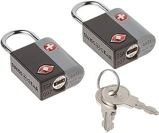 SwissGear TSA-Approved Travel Sentry Luggage Locks - Set of 2 Mini Locks with 2 Keys, Black, One Size