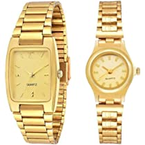 selloria Analogue Men's & Women's Watch (Gold Dial) (Pack of 2)