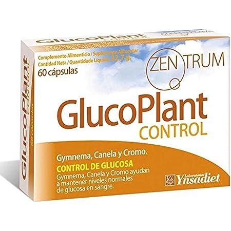 Zentrum90 GlucoPlant Control de Glucosa Gymnema, Canela y Cromo - 60 Cápsulas