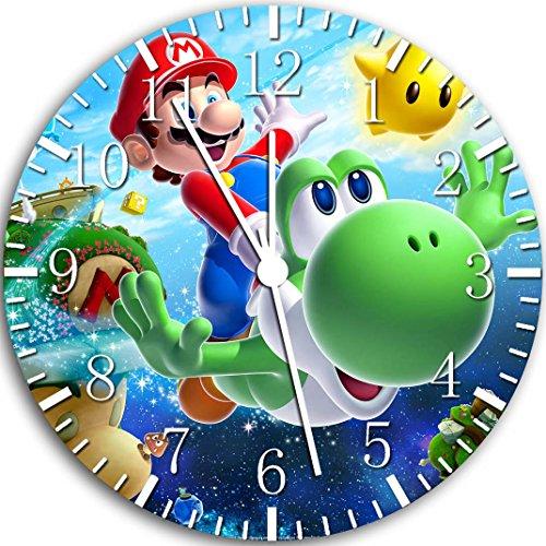 W69 Wanduhr Super Mario Yoshi, 25,4cm, Wanddekoration
