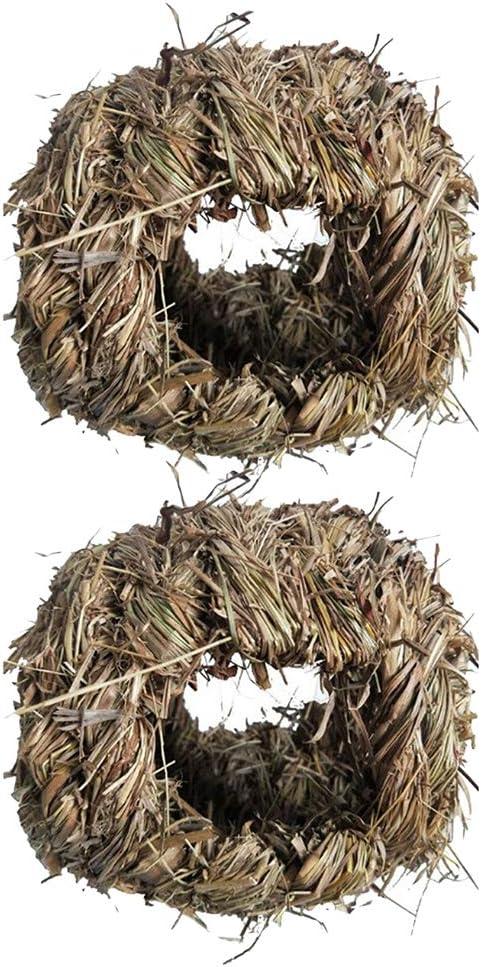 N\C 2pc Natural Weekly update Grass Bird latest Nest Finch House Canary Bedding Nesti