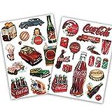 Ligoi - Pegatina de coca-cola para maleta, maleta, maleta, carrito de coche, impermeable, para ordenador
