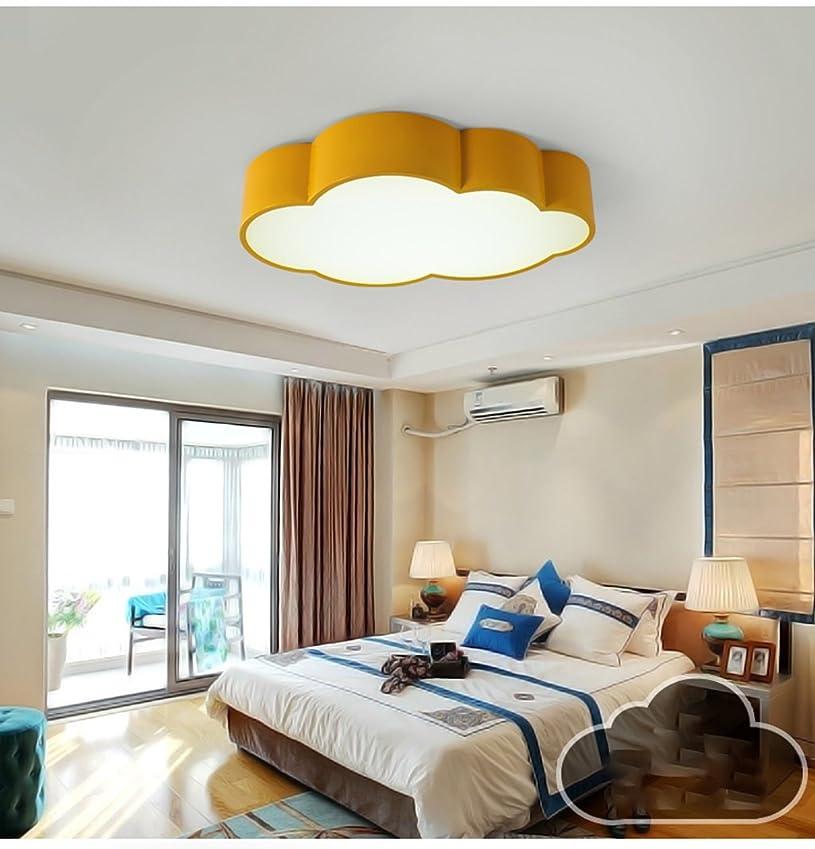 修復キャラバンリーダーシップYSYYSH 子供の雲の天井の光色シンプルでモダンなベッドルームの寝室のライト創造的な人格幼稚園ランプ黄色 寝室の装飾ライト