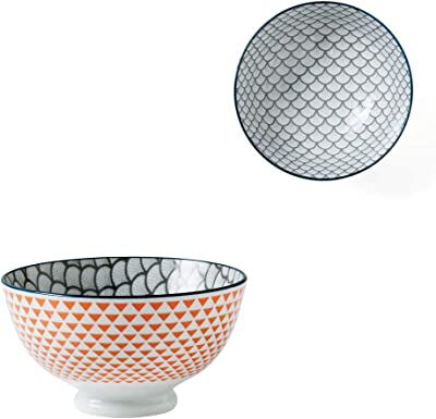 Torre & Tagus 910548M Kiri Porcelain 4.5-Inch Small Scalloped Bowl