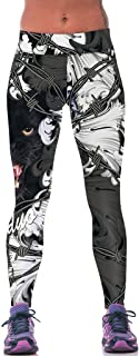 Women's Panther Printed Flex Yoga Pants Work-out Leggings