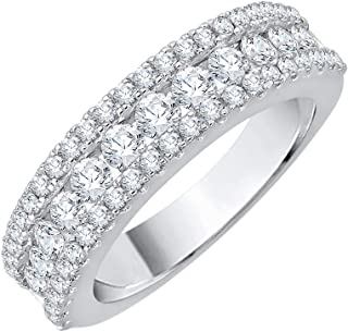 G-H,I2-I3 Size-10.75 1//10 cttw, Diamond Wedding Band in Sterling Silver