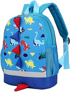 BAIGIO Mochila Infantil Kindergarten,Pequeñas Mochilas Bolsas Escolares Animales para Niñas Primaria Linda Mochila Dinosau...