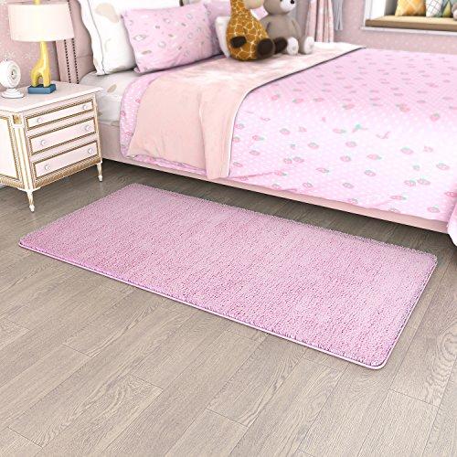 Lifewit Läufer Teppichläufer mit Mehrfarbiger Streifen Teppich Brücke Küchenläufer Schlafzimmerteppich Wohnzimmerteppich (rosa)