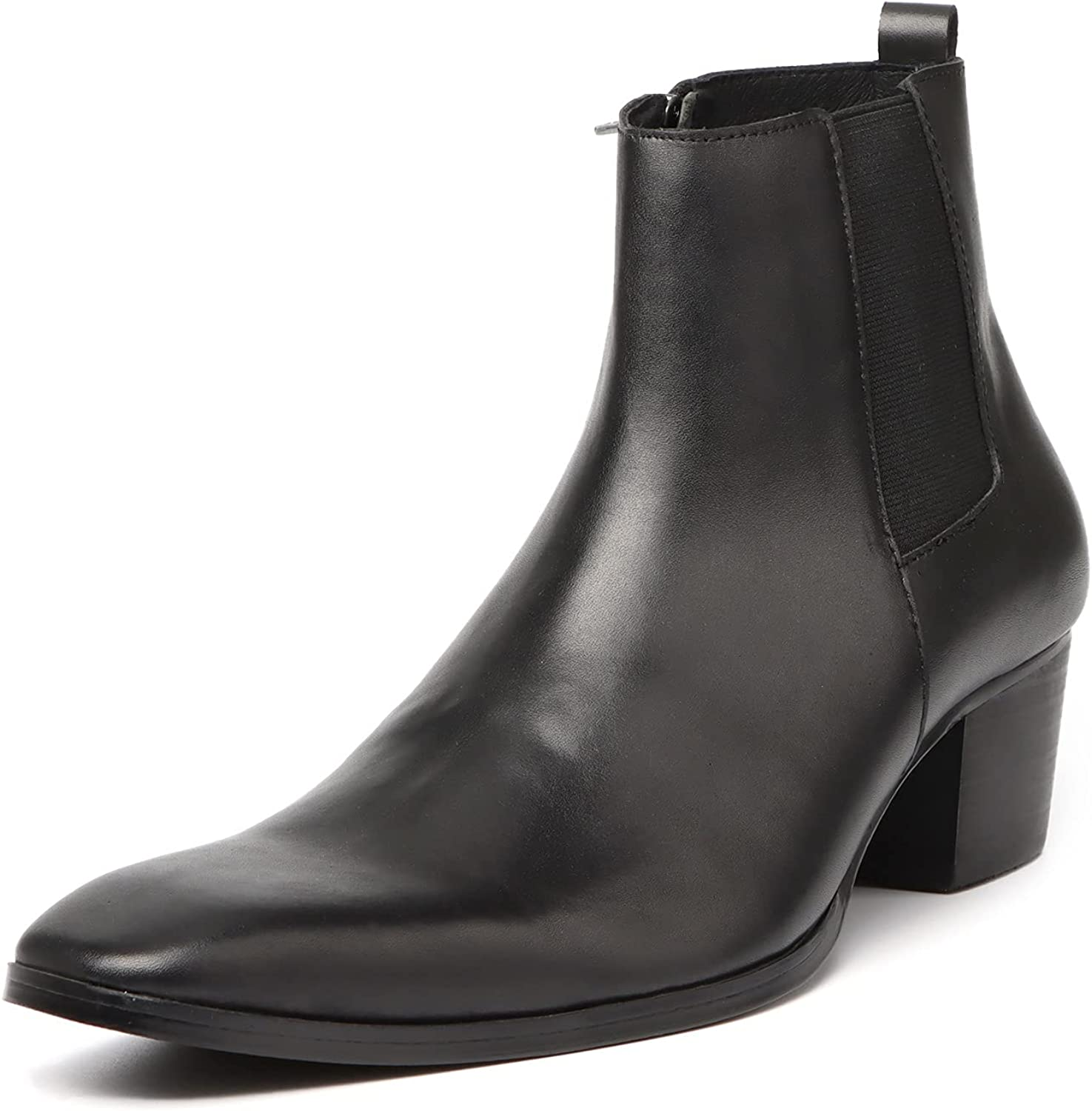Rui Landed Chelsea Year-end annual account Boots for Men Special sale item Dress Shoes Ankle Top High Slip