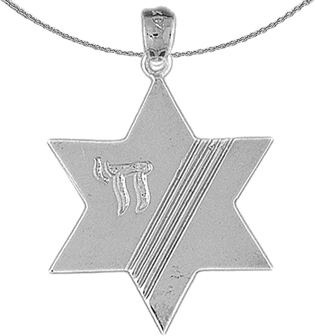 Jewels Obsession Gold Financial sales sale Star Of David 14K White St Albuquerque Mall Necklace