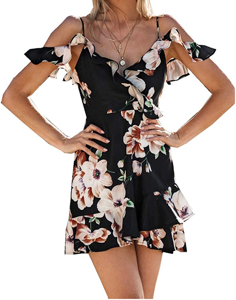 Women's Strap A-Line Mini Dress Shou Off New York Mall Camisole Ranking TOP1 Ladies Ruffle