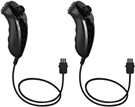 Ankey 2Packs Nunchuk Nunchuck Controller Remote Video Game for Nintendo Wii Wii U Console