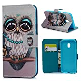 <span class='highlight'><span class='highlight'>MAXFE.CO</span></span> J3 2017 Case, for Samsung J3 Case 2017 Premium PU Leather Magnet Case Cover Shockproof Wallet Flip Case for Samsung Galaxy J3 2017 with [Card Holder] Wrist Strap, Owl