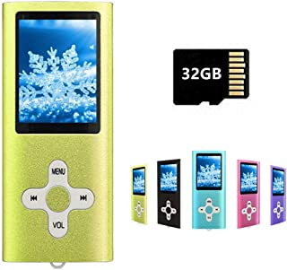 MP3 Player MP4 Player with a 32GB Micro SD Card, Runying Portable Music Player Support up to 64GB, Mini USB Port 1.8 LCD, ...