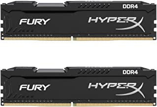 HyperX Kingston Technology Fury Black 16GB 2666MHz DDR4 CL16 DIMM Kit of 2 1Rx8 (HX426C16FB2K2/16)