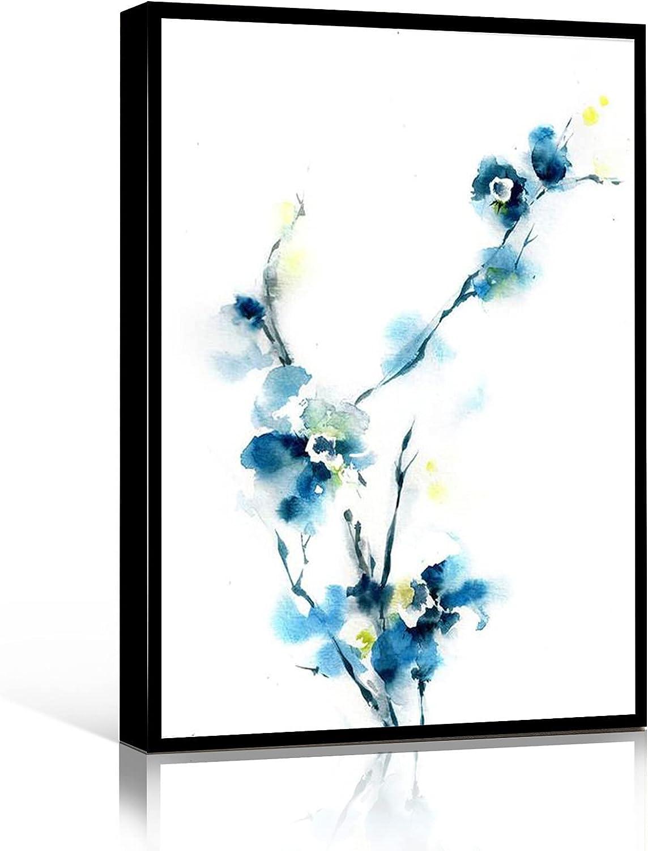 ART WALL Miami Mall DECOR Blue Florals Abstrac Superior Botanical Painting Art Print