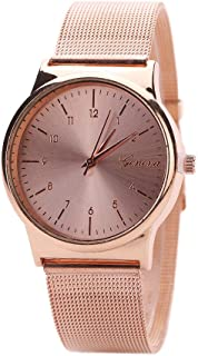 AmyDong Wrist Watch, Women's Classic Gold Quartz Stainless Steel Watch Bracelet (Rose Gold)