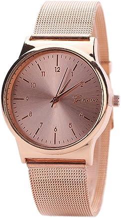 AmyDong Wrist Watch, Women's Classic Gold Quartz Stainless Steel Watch Bracelet (Rose Gold)