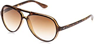 RB4125 Cats 5000 Aviator Sunglasses, Light Havana/Brown Gradient, 59 mm
