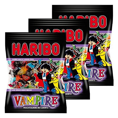 Haribo Vampire, 3er Pack, Gummibärchen, Weingummi, Fruchtgummi, Im Beutel, Tüte
