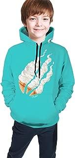 Fashion Preston Playz Fire Ice Cream 3D Print Hoodie Casual Long Sleeve Sweatshirts for Kids Boys and Girls