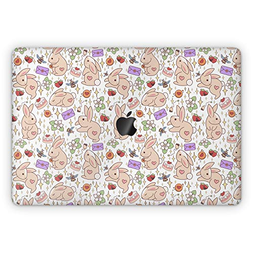 Lex Altern Skin Decal for Apple MacBook Pro 13 2020 Air Mac 16 2019 15 inch Retina 2018 2017 12 11 Vinyl Protective Bunny Cute Touch Bar Stars Strawberry Kawaii Full Body Bees Cover Flowers mch046
