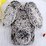 HTC U12Plus Art Case, Handmade Fluffy Villi Rabbit Baby