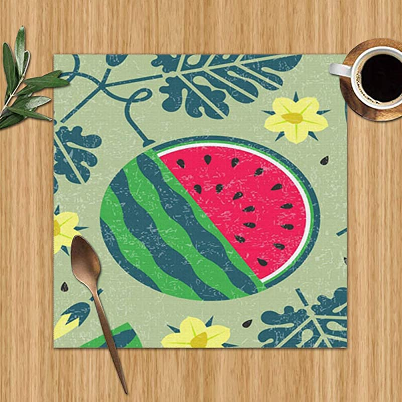 Ripe Watermelon Black Currant Food And Drink Set Of 4 Placemats For Dining Table Premium Reusable Place Mates Plastic Placemats Wipe Clean Placemats Comic Place Mat Dining Placemats 12 X 12 Inch