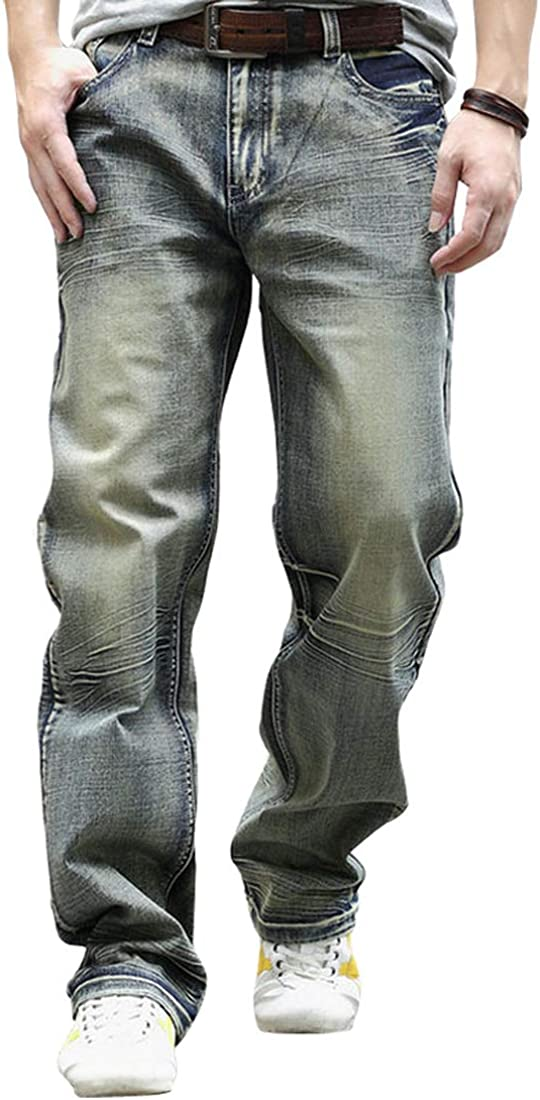 Don't miss the campaign YOYEAH Men's Fashion Big Loose Straight-Leg Jeans Mesa Mall Relaxed
