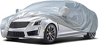 Audew Car Cover Sedan Cover 2019 Upgrade UV Protection/Waterproof/Windproof/Dustproof/Scratch Resistant Outdoor Full Car Covers for Sedan L (177''-191'')