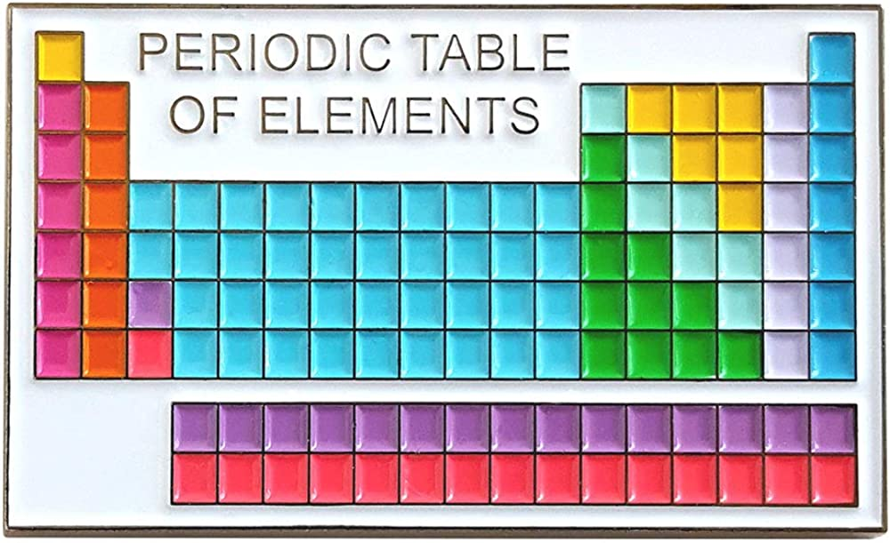 Pinsanity Periodic Table of Pin Lapel Enamel Elements Ranking TOP16 New York Mall