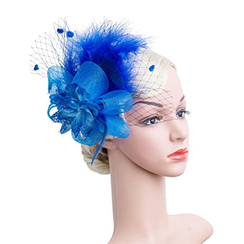 1bc6032de5a06 Women s Fascinators Hat Hair Clip Feather Wedding Headware Bridal 1920s  Headpiece