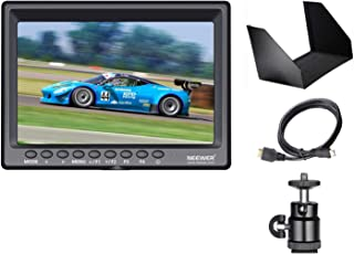 Neewer F100 7-inch 1280x800 IPS Screen Camera Field Monitor with 1 Mini HDMI Cable for BMPCC,AV Cable for FPV, 16:10 or 4:...