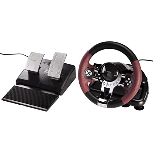 Hama - Racing Wheel Thunder V5 para PS3, Con cables, Wheel + Pedals
