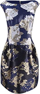 Vince Camuto Women's Metallic Jacquard Fit & Flare Dress