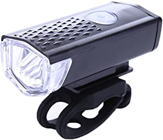 Auveach Bike Head Light Cycling Bicycle LED Lamp USB Rechargeable Front Light Torch, Black