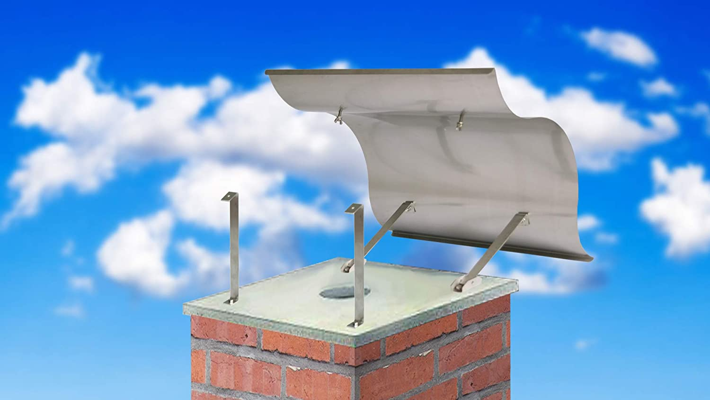 Schornsteinabdeckung Wetterschutz Kaminschutz,960x1000mm Edelstahl Regenhaube