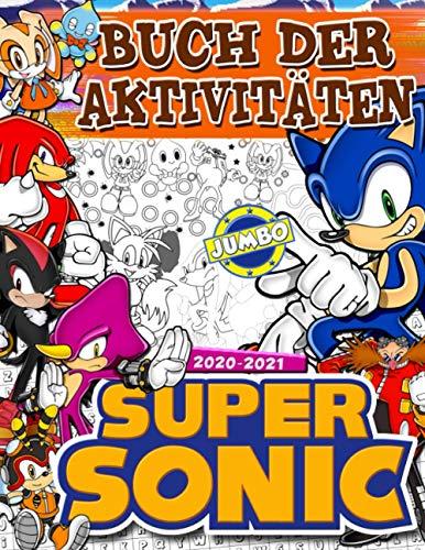 Super Sonic Buch Der Aktivitäten: Super Sonic 2021 Buch Der Aktivitäten Für Kinder: Am Besten Färbung, Suche Nach Wörtern, Punkt-zu-Punkt, Labyrinthspiel Und Mehr!